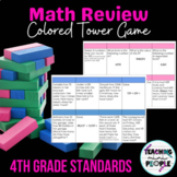 Jenga End of Year Math Review - 4th Grade