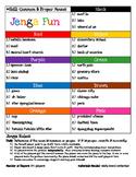 Jenga Game Board: Common and Proper Nouns