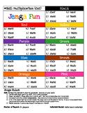 Jenga Game Board: Multiplication (2 digit x 2 digit)