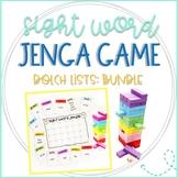 Jenga Dolch Sight Words Games Bundle