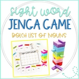 Jenga Game Cards for ELA/Reading: Dolch Sight Words List of Nouns