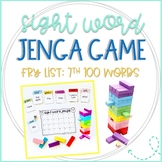 Jenga Game Cards for ELA/Reading: Fry 7th 100 Sight Words