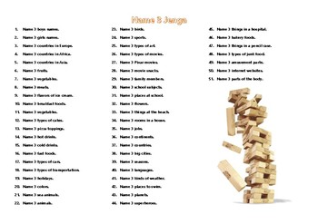 Jenga Game - Discussion Questions & Prompts