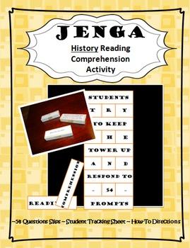 Jenga History Reading Comprehension Activity