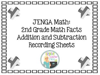 Jenga Math:  Addition and Subtraction Math Facts