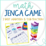 Math Jenga Game Cards for 2 Digit Addition & Subtraction