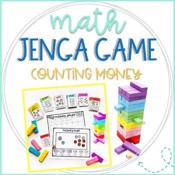Jenga Math Game Cards: Counting Money