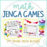 Jenga Math Game Cards Growing Bundle: Second Grade Math Practice and Review