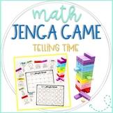 Jenga Math Game Cards: Telling Time