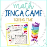 Math Jenga Game Cards for Telling Time
