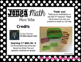 Jenga Math- Place Value - Grade 4