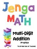 Jenga Math Practice: Addition