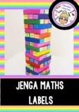 Jenga Maths Block Labels