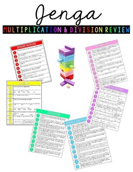 Jenga Multiplication & Division Review Game