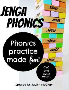 Jenga Phonics: CVC and CVCe Words