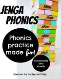 Jenga Phonics: Consonants and Vowels