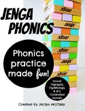 Jenga Phonics: Vowel Digraphs, Diphthongs, & R/L Controlled Vowels