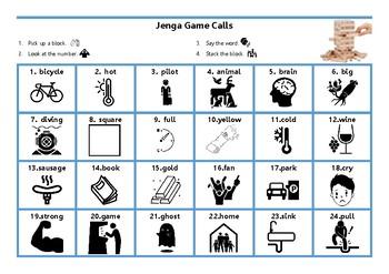 Jenga & Reversi Jenga Call Cards
