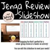 Jenga Review Slideshow (Editable)