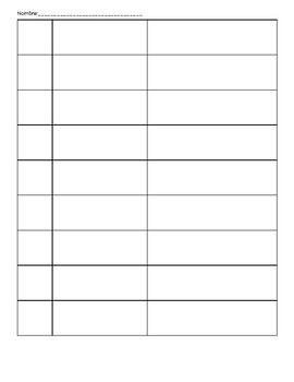 Jenga Rules and Recording Sheet