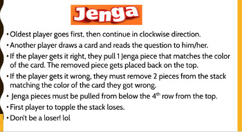 Jenga Study Game: U.S. History End of Course Exam