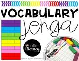 Jenga Vocabulary Game (editable)