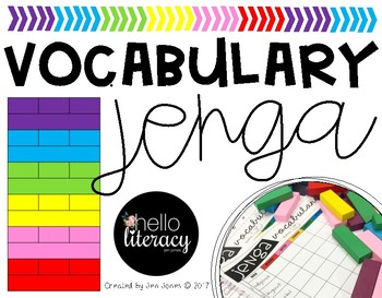 Jenga Vocabulary Game (editable)