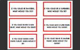 Jenga question cards.