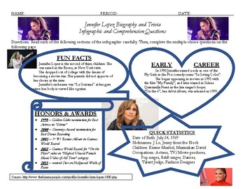 Jennifer Lopez Biographical Trivia and Questions