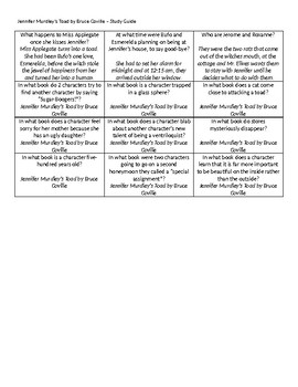 Jennifer Murdley's Toad Battle of the Books Study Guide
