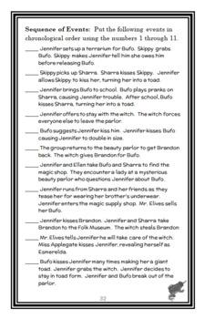 Jennifer Murdley's Toad (Bruce Coville) Novel Study / Reading Comprehension