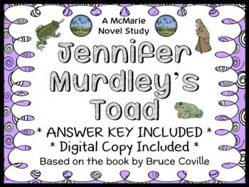 Jennifer Murdley's Toad (Bruce Coville) Novel Study / Reading Comprehension