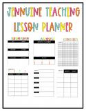 Jennuine Teacher Lesson Planner {EDITABLE}