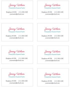 Jenny Business Cards