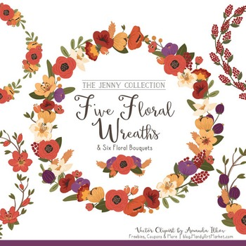 Jenny Floral Wreaths & Bouquets in Autumn