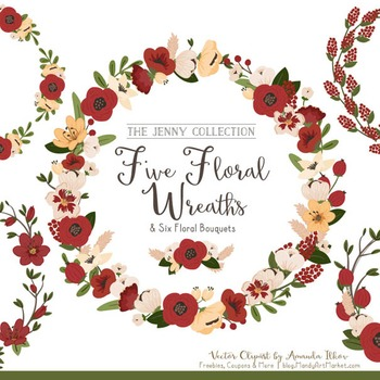 Jenny Floral Wreaths & Bouquets in Christmas