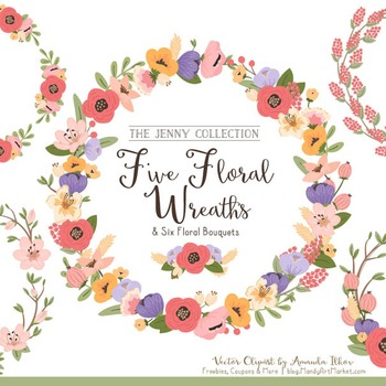 Jenny Floral Wreaths & Bouquets in Wildflowers