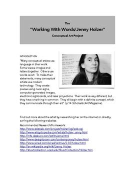 Jenny Holzer 'Word Art' Project