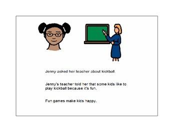 Jenny and the Kickball Game