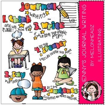 Journal Writing clip art - COMBO PACK- by Melonheadz