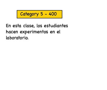 Jeopardy 2.1 Avancemos (powerpoint version)