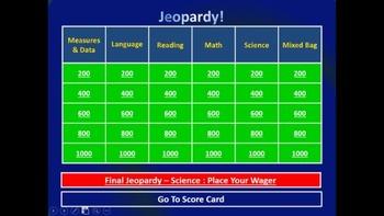 Jeopardy! 3rd Grade Edition