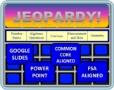4th Grade Math Jeopardy- Common Core / FSA End of the Year Review