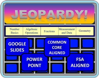Jeopardy 4th Grade Common Core / FSA End of the Year Review