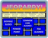 4th Grade Math Jeopardy Common Core / FSA Fraction Review