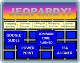 Jeopardy 4th Grade Common Core / FSA Fraction Review