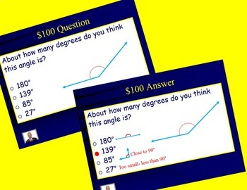 Jeopardy 4th Grade FSA/ Common Core Geometry and Angles Review