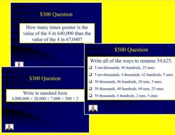 Jeopardy 4th Grade Common Core Place Value