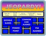 4th Grade Math Jeopardy- Common Core Multiplying and Multi-step Word Problems