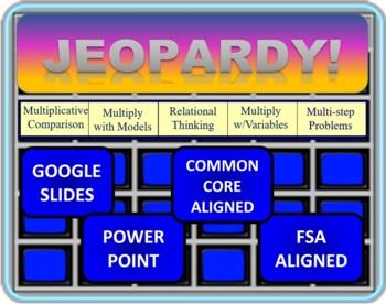 Jeopardy 4th Grade Multiplication OA.1.1 - 1.3
